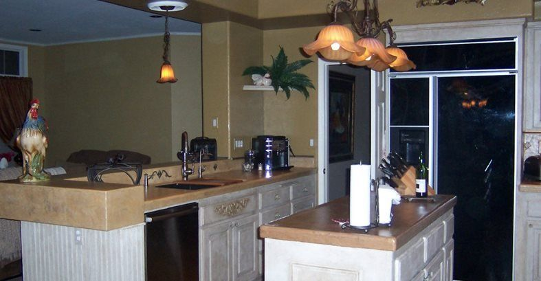 Opgedoken, Mocha Concrete Countertops Beauty-Faux Murrieta, CA