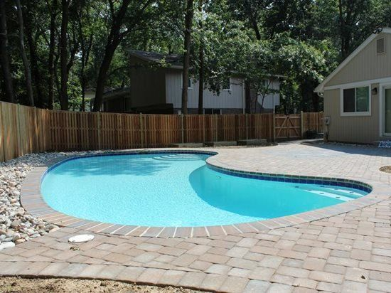 Betonnen bestrating Pool Deck Site NRC Landscape Construction Vienna, VA